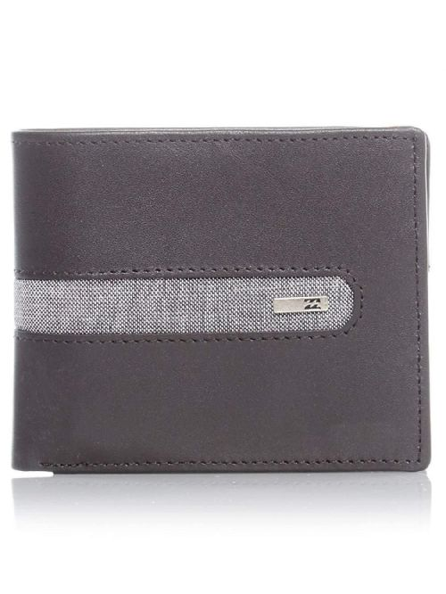 BILLABONG MENS WALLET.D BAH REAL LEATHER BLACK RFID PROTECT MONEY PURSE 8W 2 19